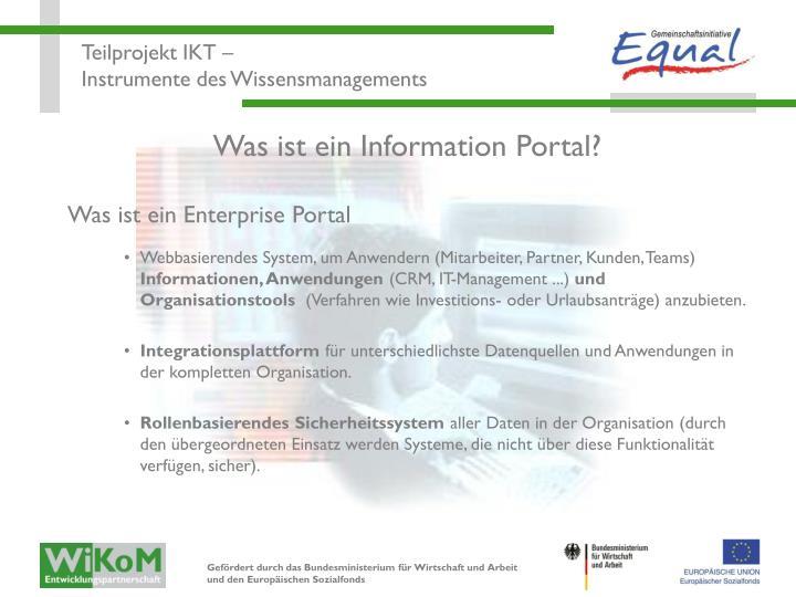 Was ist ein Information Portal?