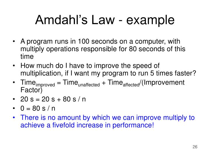 Amdahl's Law - example