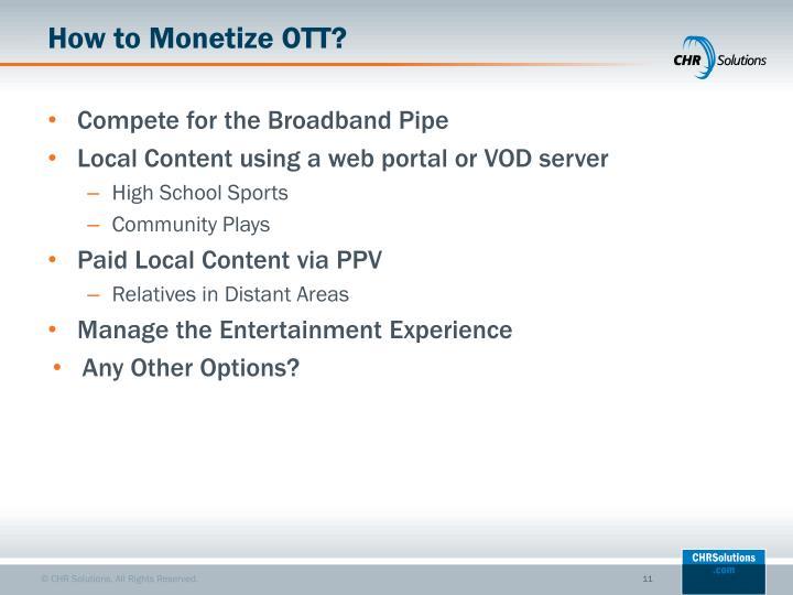 How to Monetize OTT?