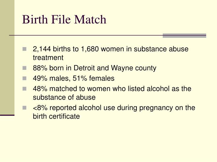 Birth File Match