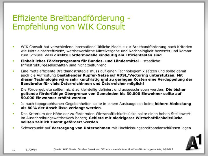 Effiziente Breitbandförderung -