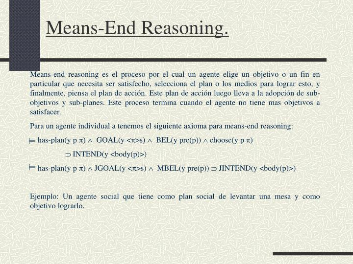 Means-End Reasoning.