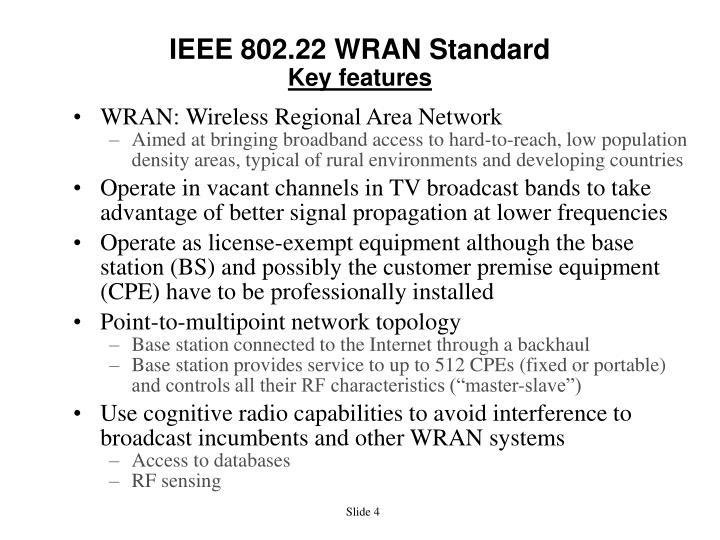 IEEE 802.22 WRAN Standard