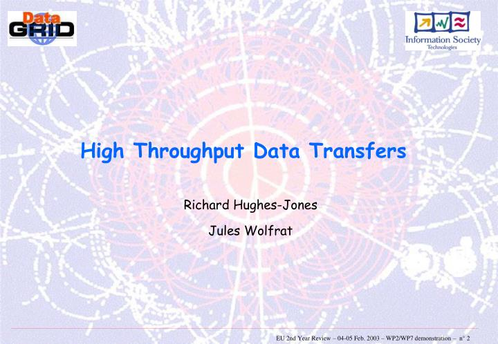 High Throughput Data Transfers