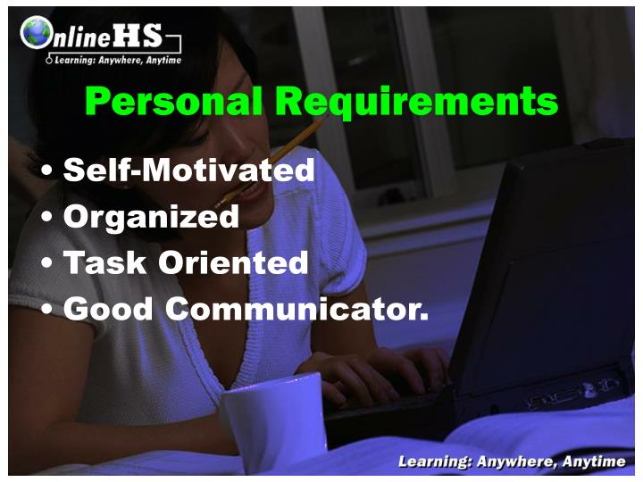 Personal Requirements