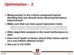 optimization 2
