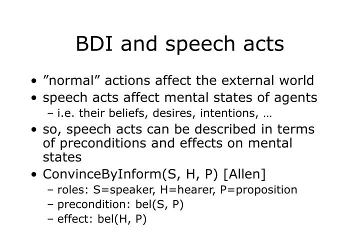 BDI and speech acts