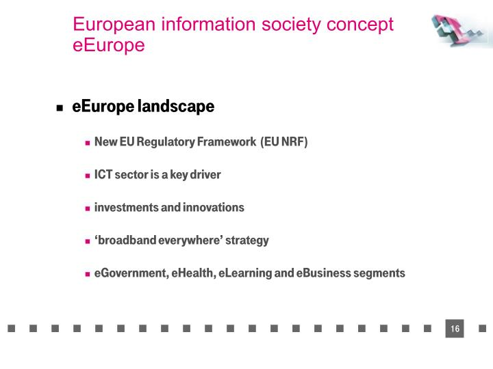European information society concept eEurope