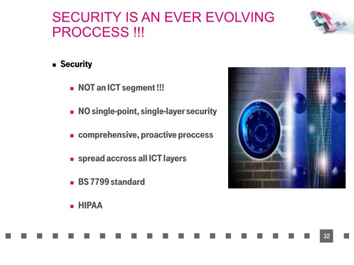SECURITY IS AN EVER EVOLVING PROCCESS !!!