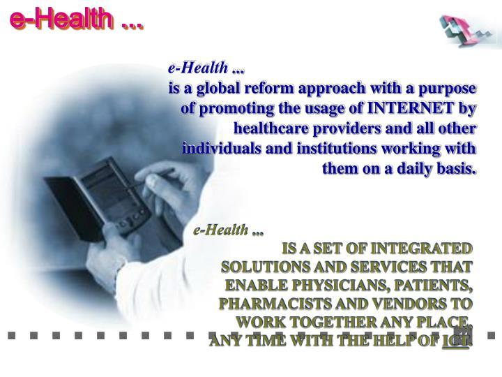 e-Health ...