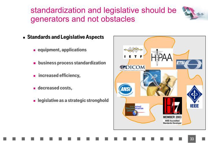 standardization and legislative should be