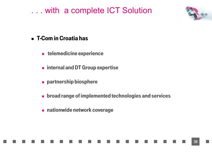 . . . with  a complete ICT Solution
