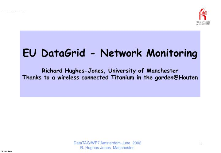 EU DataGrid - Network Monitoring