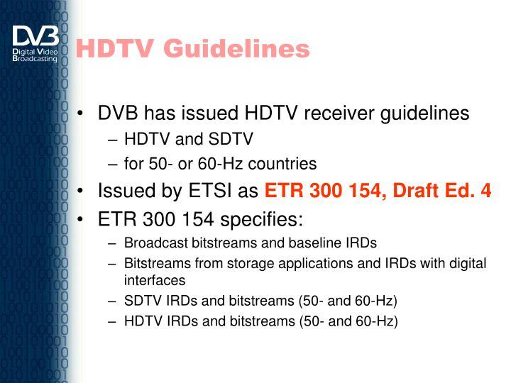 HDTV Guidelines