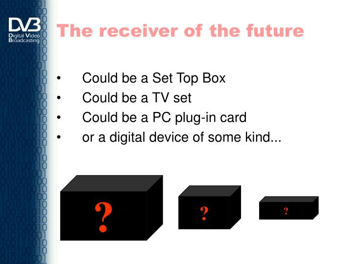 The receiver of the future