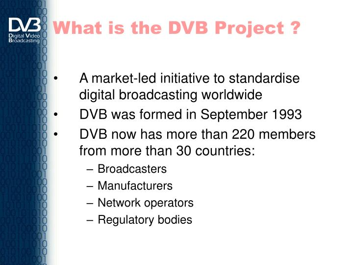 What is the DVB Project ?