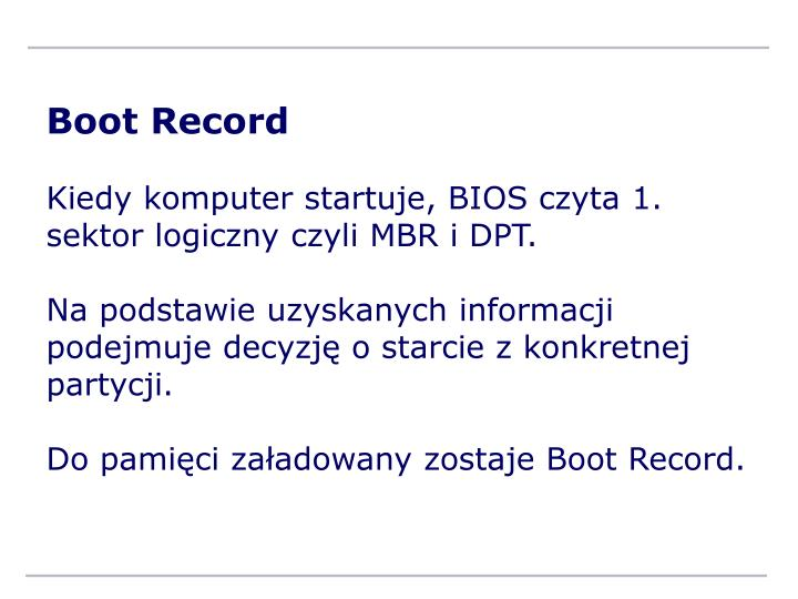 Boot Record