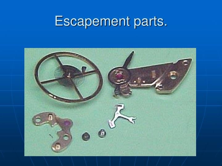 Escapement parts.