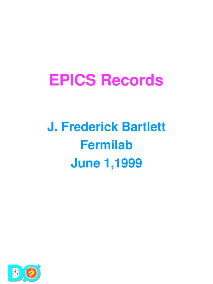 Epics records