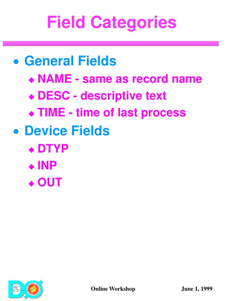 Field Categories