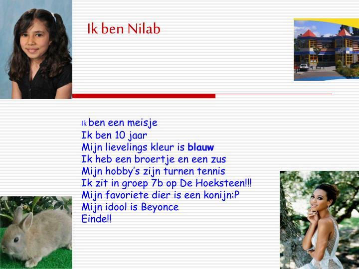 Ik ben Nilab