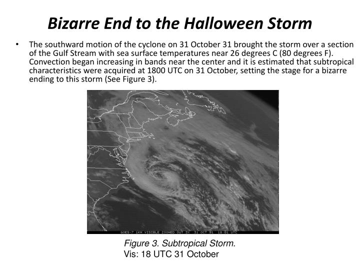 Bizarre End to the Halloween Storm