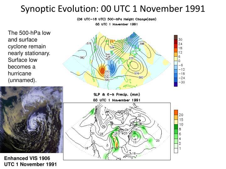 Synoptic Evolution: 00 UTC 1 November 1991