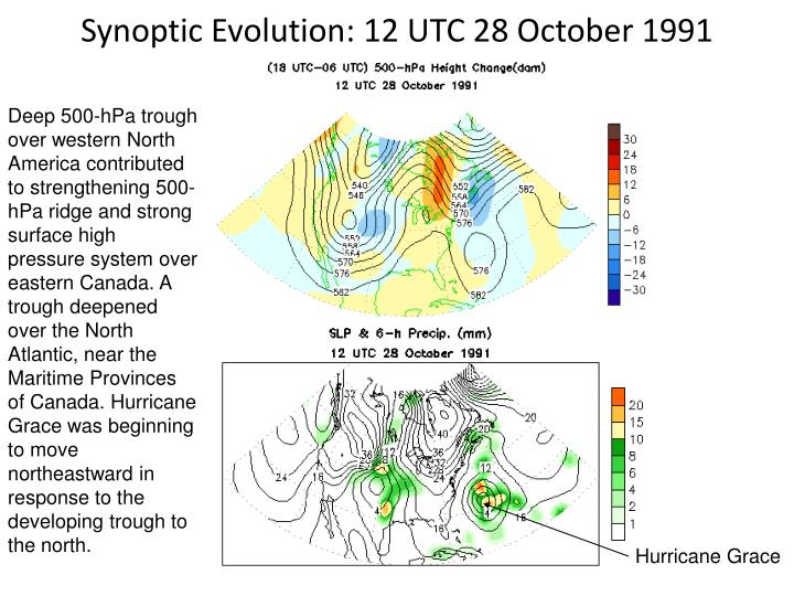 Synoptic Evolution: 12 UTC 28 October 1991