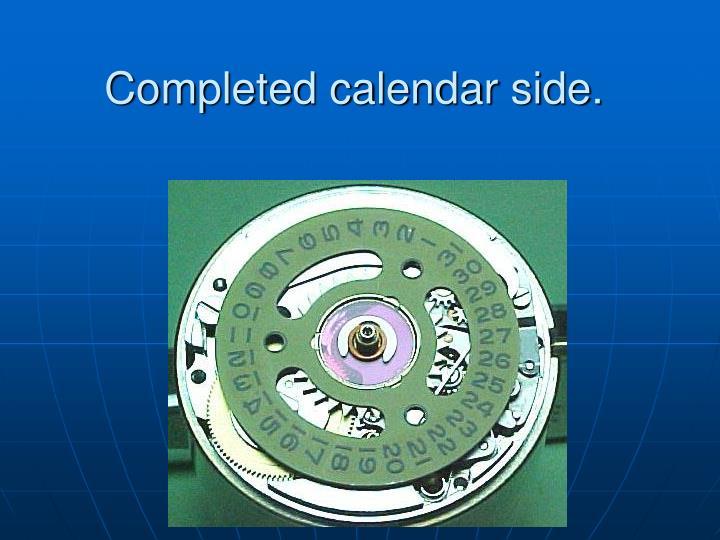Completed calendar side.