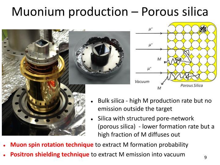 Muonium production – Porous silica