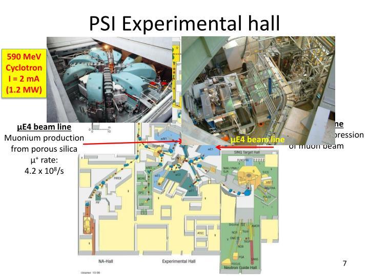 PSI Experimental hall