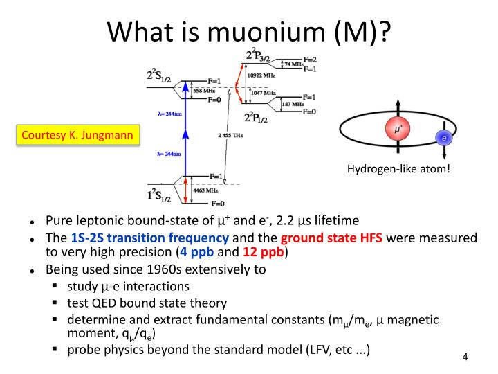 What is muonium (M)?