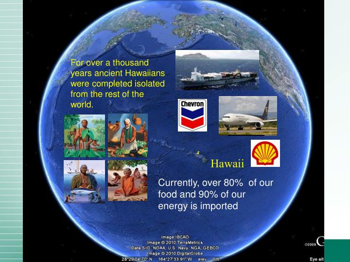 For over a thousand years ancient Hawaiians were completed isolated from the rest of the world.