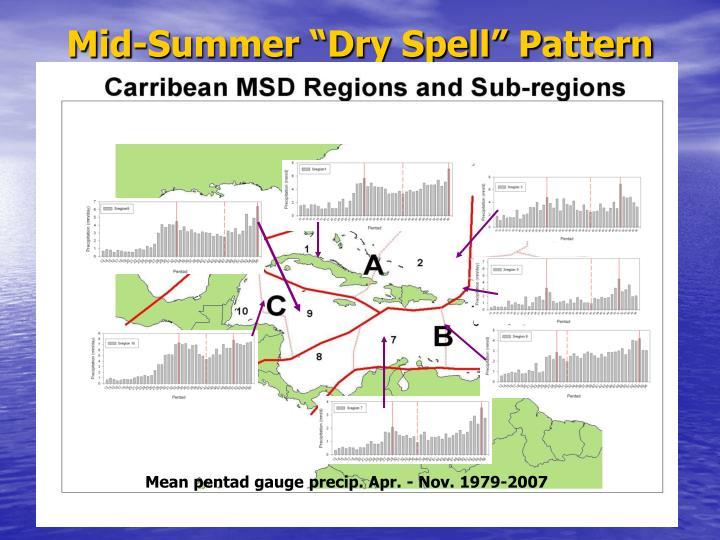 """Mid-Summer """"Dry Spell"""" Pattern"""