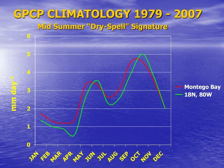 GPCP CLIMATOLOGY 1979 - 2007