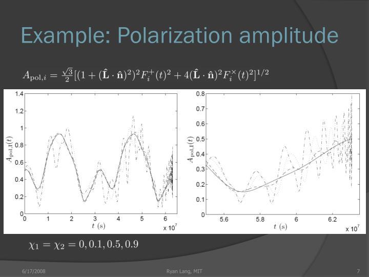 Example: Polarization amplitude