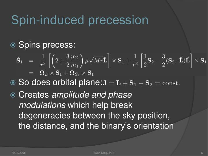 Spin-induced precession