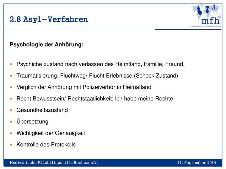 2.8 Asyl-Verfahren