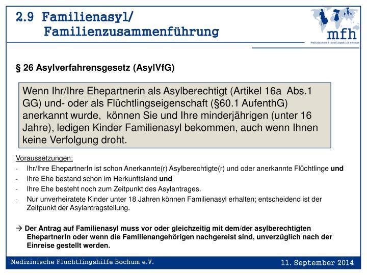 2.9  Familienasyl/