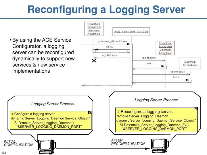 Reconfiguring a Logging Server
