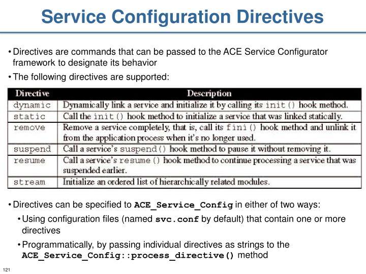 Service Configuration Directives