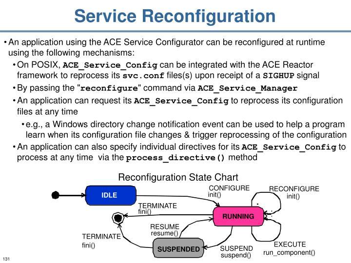 Service Reconfiguration
