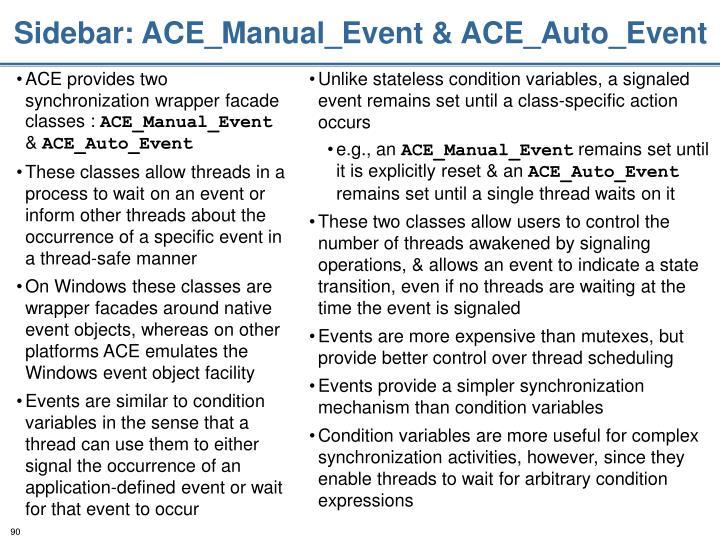 Sidebar: ACE_Manual_Event & ACE_Auto_Event
