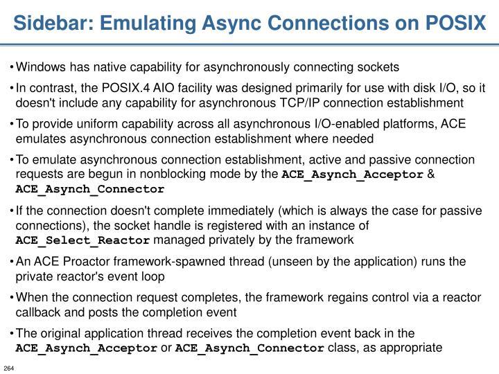 Sidebar: Emulating Async Connections on POSIX
