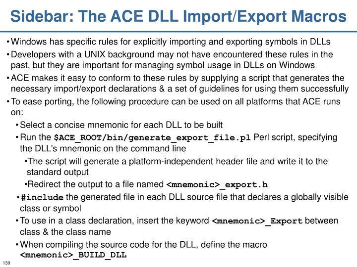 Sidebar: The ACE DLL Import/Export Macros