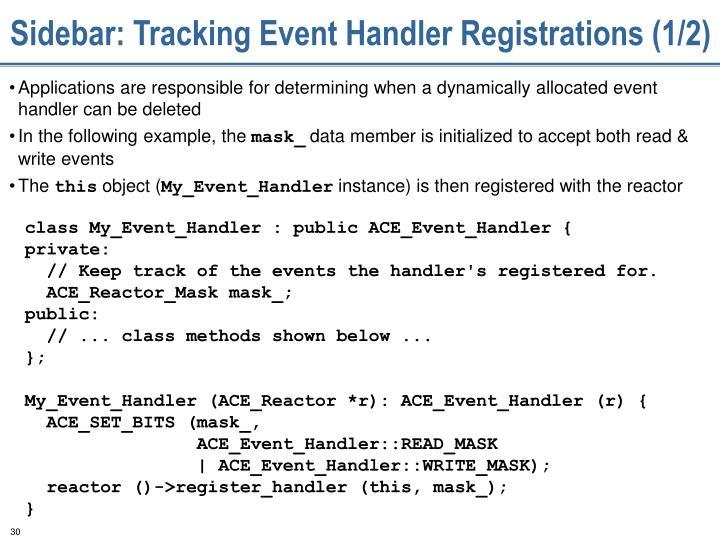Sidebar: Tracking Event Handler Registrations (1/2)