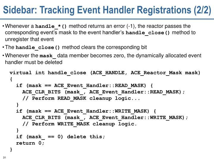 Sidebar: Tracking Event Handler Registrations (2/2)