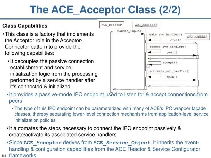 The ACE_Acceptor Class (2/2)