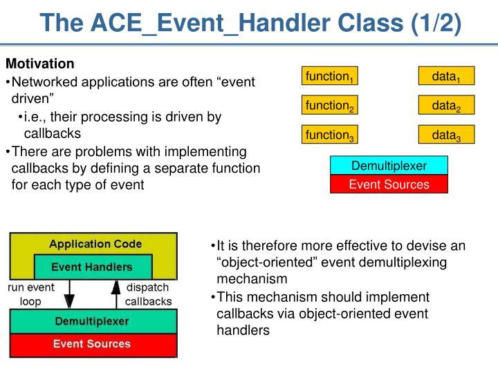 The ACE_Event_Handler Class (1/2)