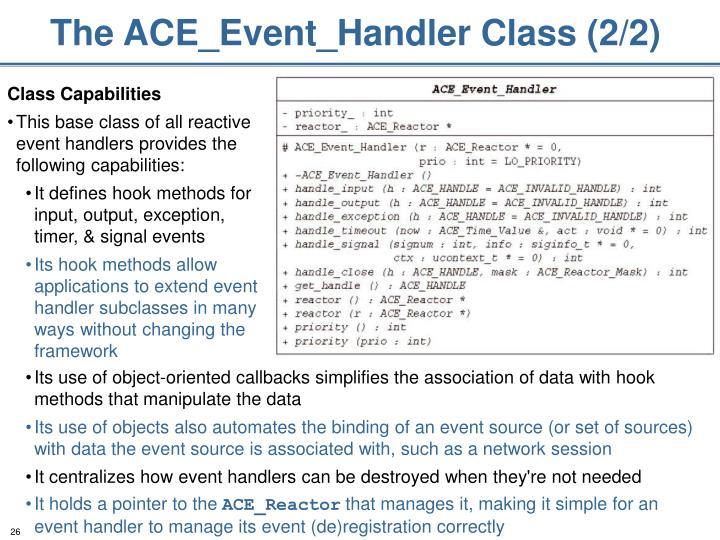 The ACE_Event_Handler Class (2/2)